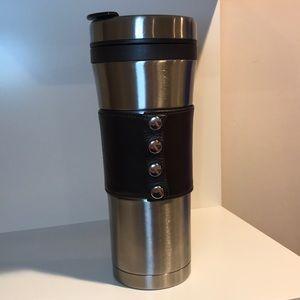 Starbucks Leather and Steel tumbler